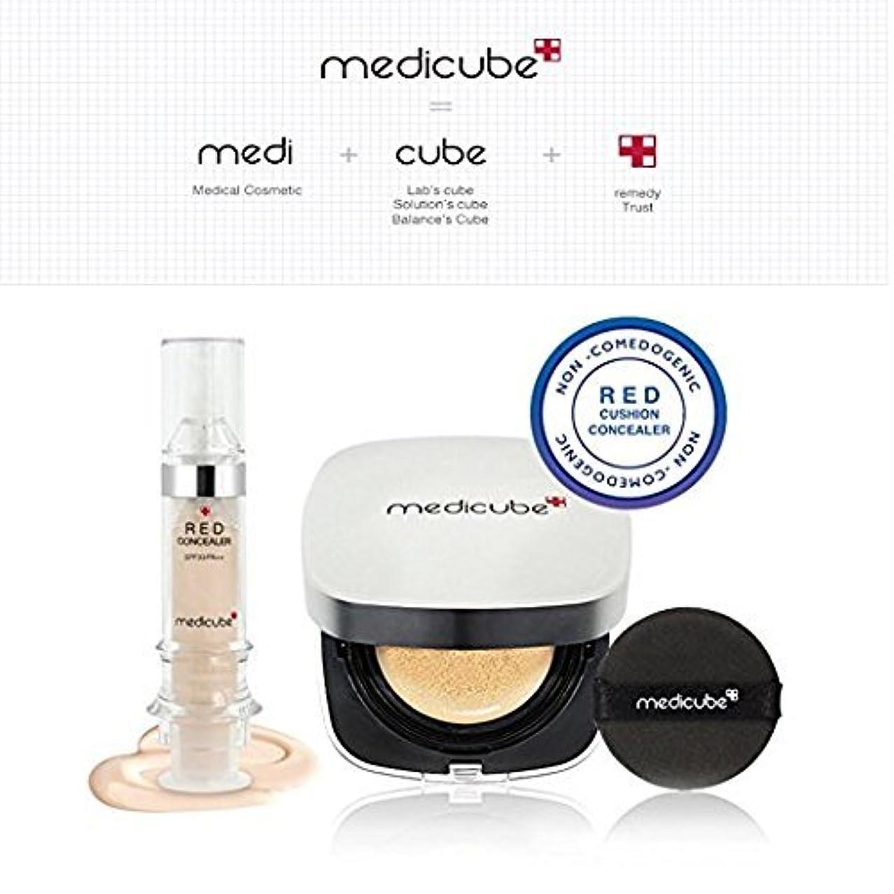 申請者冷酷な誕生Medicube メディキューブレッドクッション(15g) + コンシーラセット(5.5ml) 正品?海外直送商品 (Cushion #21 + #21)