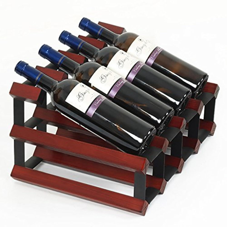 ワインラックソリッドウッドワインラックデコレーションクリエイティブワインカップレストランヨーロッパのワインラックソリッドウッドゴブレックラックワインラック (色 : A)