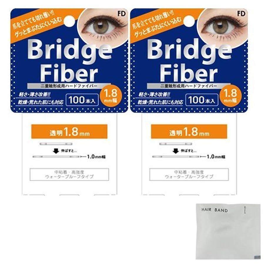 累積そよ風間に合わせFD ブリッジファイバーⅡ (Bridge Fiber) クリア1.8mm×2個 + ヘアゴム(カラーはおまかせ)セット