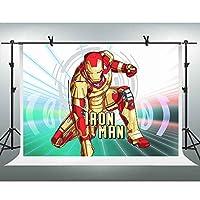 FHzON 10x 7ftアニメアイアンマン写真用背景背景幕スーパーヒーローテーマパーティーYoutube Backdrops写真ブース小道具Studio pfh341