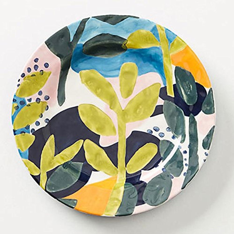 アンソロポロジー Anthropologie ケーキプレート 花柄 Melbourne サイドプレート 取り皿 デザートプレート [並行輸入品]