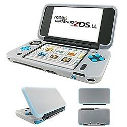 MaxKu Newニンテンドー2DS LL シリコンカバー 一体型 水洗可能 ソフトカバー 全面保護 高品質 着脱簡単 Nintendo 2DS LL シリコンプロテクタケース (ホワイト)