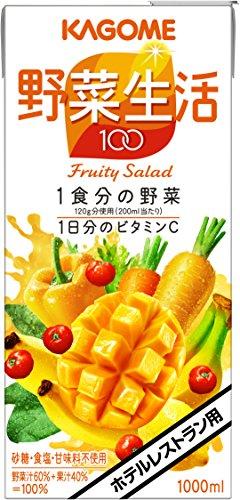 カゴメ 野菜生活100 フルーティーサラダ ホテルレストラン用 1000ml×6本