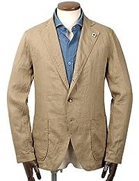 ラルディーニ LARDINI / 【国内正規品】 18SS!製品洗いリネンポプリン3Bシャツジャケット『AMA』 (ベージュ) メンズ