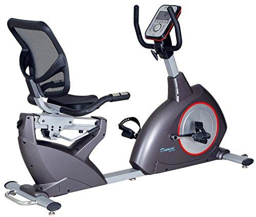 ダイコー(DAIKOU) フィットネスバイク 電動マグネット式 16段階負荷 リカンベントバイク 家庭用 DK-8718RP 【保証期間1年】