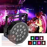 KAPATA LEDステージライト パー18缶 パーティーグッズ RGB パーライト イベント照明 LEDライト DMX