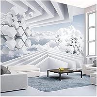 Xbwy カスタム写真壁紙モダンな抽象スペース青い空と白い雲壁画リビングルーム-280X200Cm