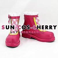 【サイズ選択可】コスプレ靴 ブーツ K-2146 バトルガール ハイスクール Chuuuuu ハート Lip 蓮見うらら 女性24CM
