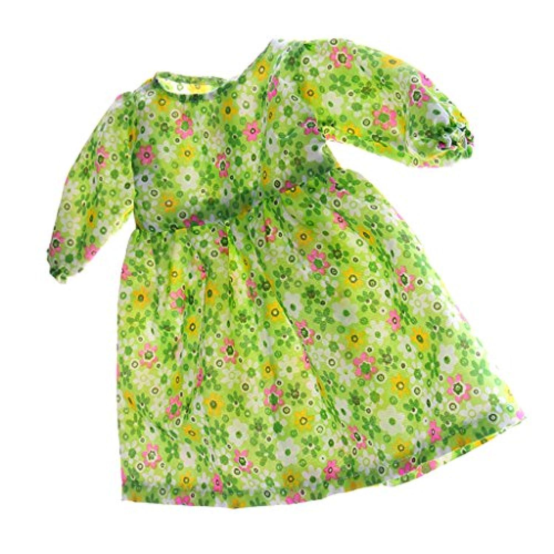Kesoto 衣類 ロングスリーブ 花柄ドレス スカート ワンピース ドールアクセサリー 18インチアメリカンガール人形のため