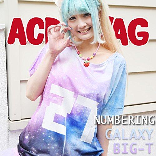 (エーシーディーシーラグ) ACDC RAG 27 Tシャツ 宇宙柄 パステル ナンバリング 原宿系
