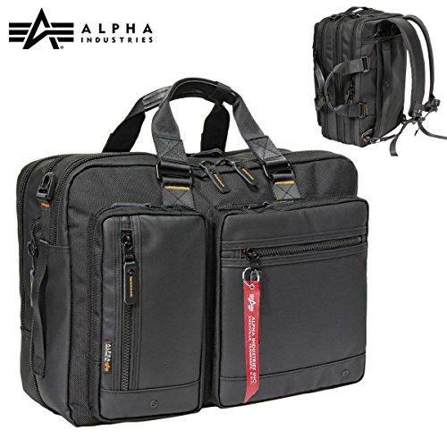 ALPHA INDUSTRIES INC アルファ【限定カラーコンビネーション】Business 3Way Bag [Black & Orange Series] ビジネス バッグ A4PC対応 2ルーム 3Way エクスパンダブル 大容量 出張対応 [ALP-101]