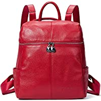 BOSTANTEN Geniune Leather Fashion Backpack Purse Casual School Bags for Women