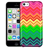 Apple iPhone 5C Case Slim Fit Snap On Cover by Trek Neon Chevron Rainbow Trans Case [並行輸入品]