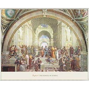 ポスター ラファエロ サンティ アテネの学堂 額装品 アルミ製ベーシックフレーム(ライトブロンズ)