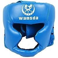 安全 に 強くなる ヘッドギア ボクシング MMA テコンドー ムエタイ トレーニング に 最適 ◇WASDA (ブルー)
