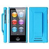 Apple iPod nano 7 ケース クリップ ハード カバー MY WAY™ 7th PC Clip Case + 保護 フィルム Blue 青