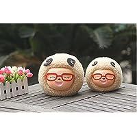 HuaQingPiJu-JP 羊のピギー銀行樹脂工芸愛らしい羊クリエイティブホームデコレーション(大カーキ)