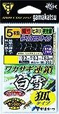 がまかつ(Gamakatsu) ワカサギ連鎖 白雪 狐タイプ 5本仕掛 W-232 1.5-0.2