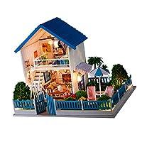 Prettyia 高品質 DIY手芸アクセサリー 1:24スケール ドールハウスモデル 二階建て アパート模型