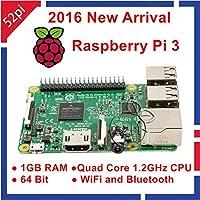 FidgetGear ラズベリーパイ3モデルBクアッドコア1.2 GHz 64ビットCPU 1 GBのRAMのWiFi&ブルートゥース4.1