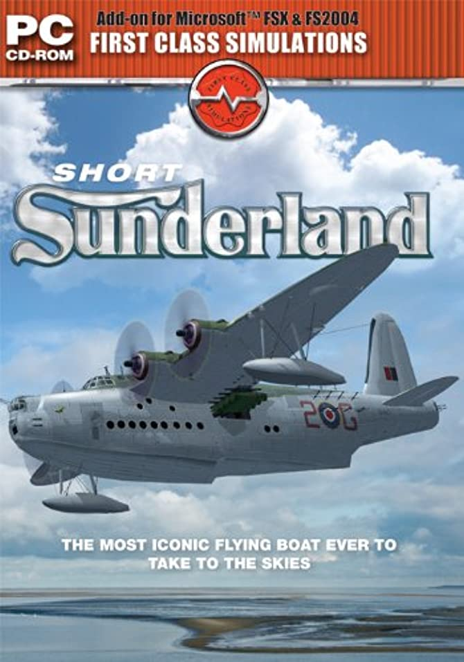 Sunderland Flying Boat Add-on for Microsoft Flight Simulator FS2004 and FSX (輸入版)