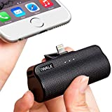 iWALK 3300mAhポータブルコンパクトコネクタードッキング外部バッテリーパックパワーバンクチャージャーiPhone 5 6 7 8 Plus X SE XS(ブラック)