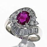 ルビー(R1.339ct) ダイヤモンド(D1.02ct) リング Pt900 プラチナ 日本サイズ約12号 #52 レディース 31070203