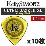 【10枚セット】Kelly SIMONZ ケリーサイモン オリジナルピック KSJZ3-100 ウルテム JAZZ III XL 1.00mm KS ロゴ/Black