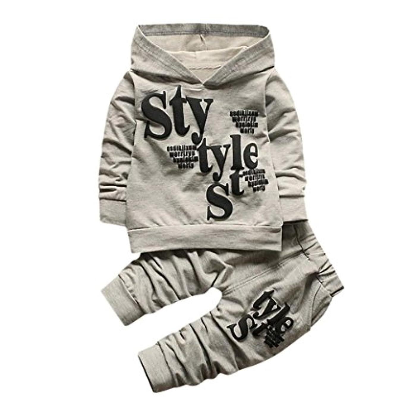 貫通するオープニング敬パーカー+ズボン Tシャツ スウェット 子供服 赤ちゃん服 上着+パンツ2点セット かっこいい ベビー服 ロンパース カバーオール 男の子 女の子 ファッション