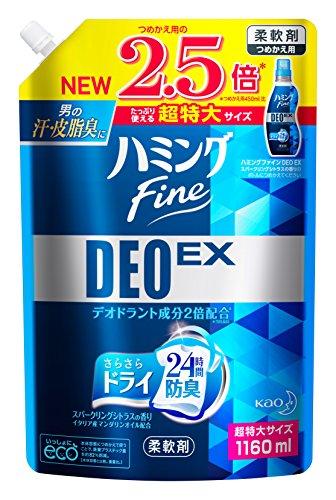 【大容量】ハミングファイン 柔軟剤 DEOEX スパークリングシトラスの香り 詰替用 1160ml