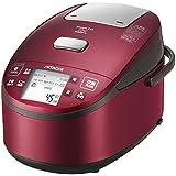 日立 圧力スチームIHタイプ ジャー炊飯器 打込鉄釜 5.5合 レッド RZ-WV100M R