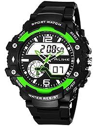 4dc7f733d1 Colofan熱い販売Ak16120ファッションの高級特殊デジタルウォッチクォーツデュアルタイムズ紙は防水腕時計を表示します (グリーン) · ¥  5,140 · Colofan ...