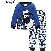 Hooyi 羊男の子パジャマ綿100 %の子供たちはショーンのパジャマセット (120(6))