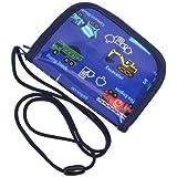 コインケース (ひも付き) 子供用  アクセル全開はたらく車(ロイヤルブルー) N5604400