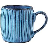 波佐見焼 利左エ門窯 ブルー彫 マグカップ