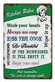 なまけ者雑貨屋 Kitchen Rules ブリキ看板 メタルプレート アメリカン ヴィンテージ風 レトロ