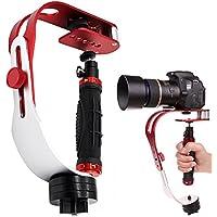 カメラスタビライザー SENHAI ビデオカメラサポート カメラ スタビライザー DV DSLR CSS1 - レッド&ブラック