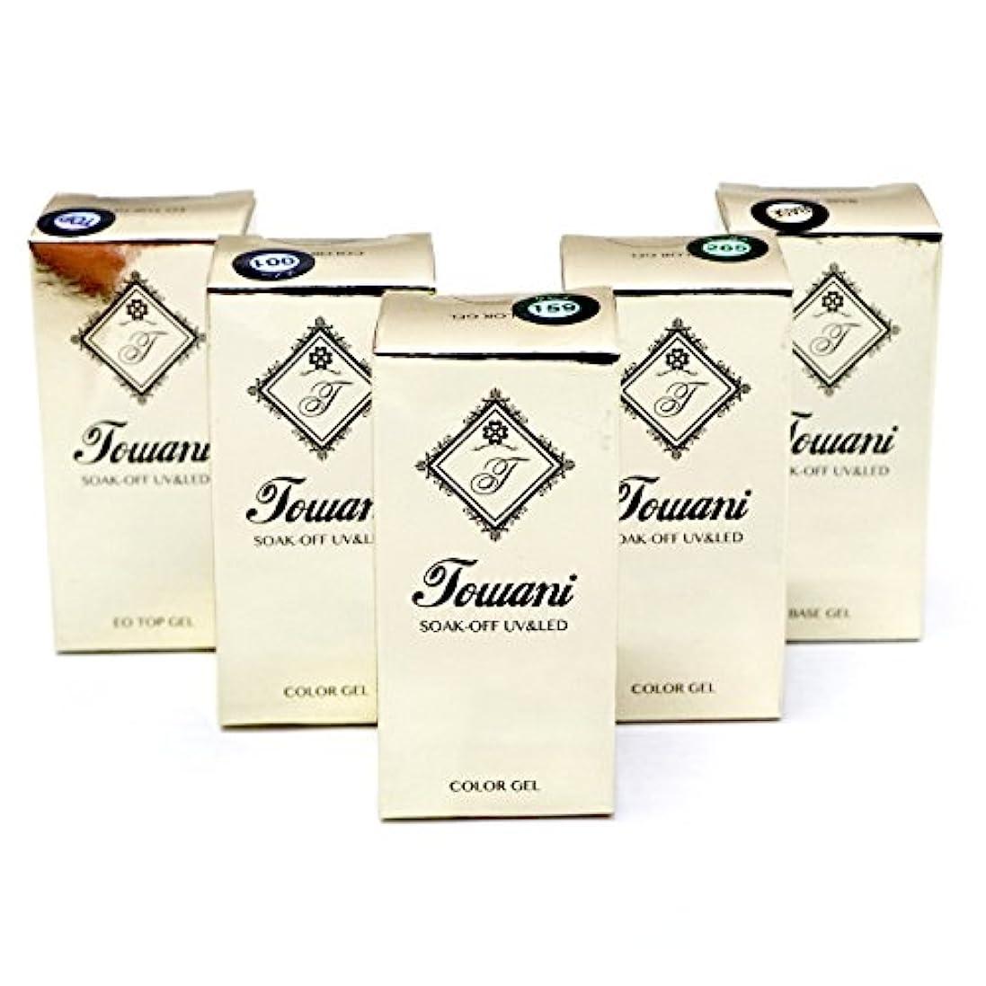 祖先いつ不変Towani ジェルネイル トップジェル 拭き取り不要 ノンワイプ ベースジェル ノンサンディング カラージェル (セット1)