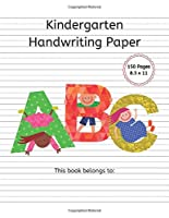 Kindergarten Handwriting Paper: 150 Pages Mid Dotted Line Notebook K-2nd Grade, 1/2 Rule, 1/4 Dotted, 1/4 Skip - 8.5 x 11 inch