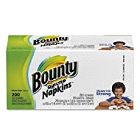 Bounty Paper Napkins, White, 200 Count by Bounty