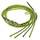 振袖用 帯締め 絹100% パールビーズ飾り付き 手組紐 帯〆 成人式や卒業式用 (緑系83823)
