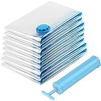 Glamouric 布団圧縮袋 8枚入 衣類圧縮袋 掃除機対応 再利用可能 ポンプ付き 省スペース(2*100x80cm/4*90x70cm/2*80x60cm)