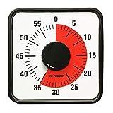 タイマー,Yunbaoit 60分タイマー, 60分 時間管理 プレゼン ベルの音です (機械発条式-19cm)