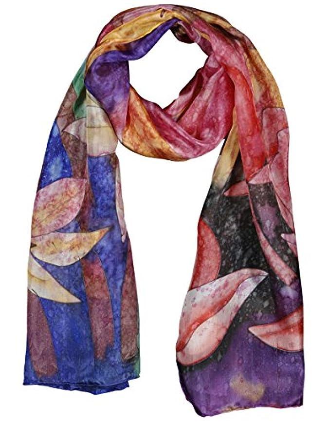 着飾る苛性ビルシルク100% スカーフ 手描き ワスレグサ