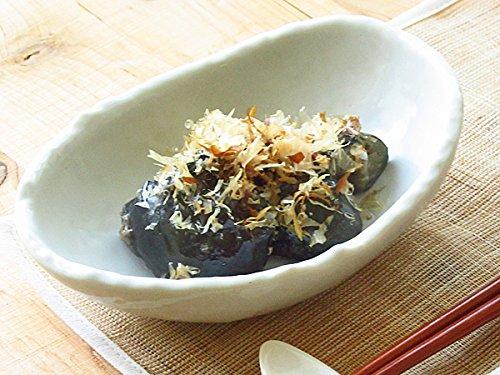 【アウトレット品込】手造り風 楕円小鉢 14.5cm 【 和食器 白い食器 日本製 陶磁器 美濃焼 刷毛目 中鉢 】
