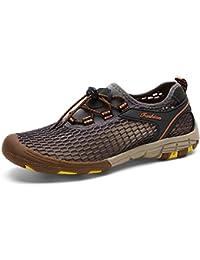 SaguaroメンズスリッポンローファーメッシュシューズビーチカジュアルAqua Water Shoesファッションスニーカー
