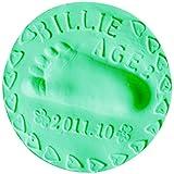 Demiawaking 赤ちゃん ベビー手形足形フレーム 粘土 フレーム記念品 無毒 安全 出産祝い 百日記念 20g グリーン