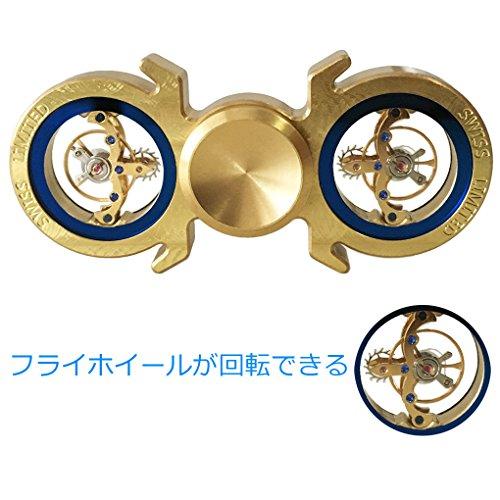 ハンドスピナー 指スピナー ストレス解消 真鍮製 高速回転 超耐久 Hand spinner Fidget Spinner Toy EDC 子供大人に適用 (ゴールデン 2)