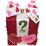 Valentine's Day Gender Reveal Gift Box Pinata Pull Strings Style