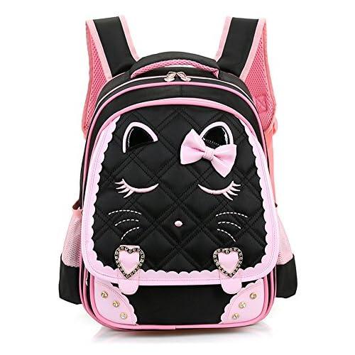 (ピーキー)Peigee 子供用リュック 学生リュックサック キッズバッグ バックパック デイパック 猫 ねこ 可愛い アウトドア 子供 kids 女の子 通学 遠足 小学生